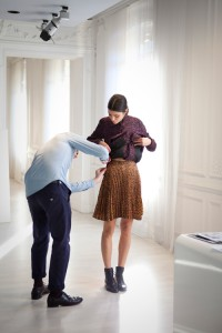 Cédric charlier, cacharel, couture, atelier, fitting, stylisme