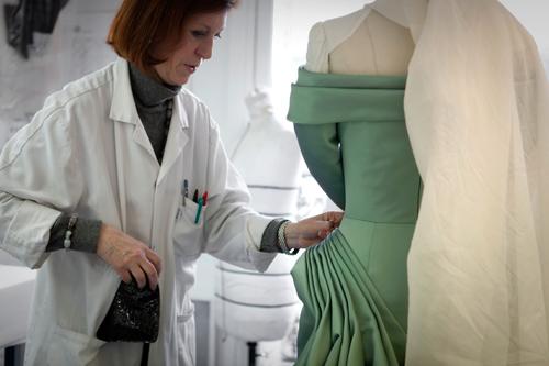 Atelier Stephane Rolland, premiere atelier flou, haute couture