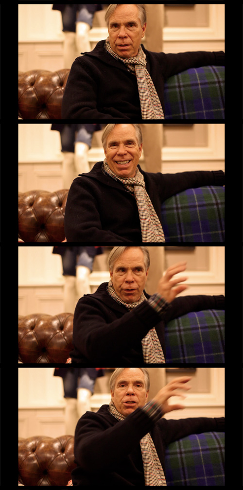 Tommy Hilfiger, Interview, james bort