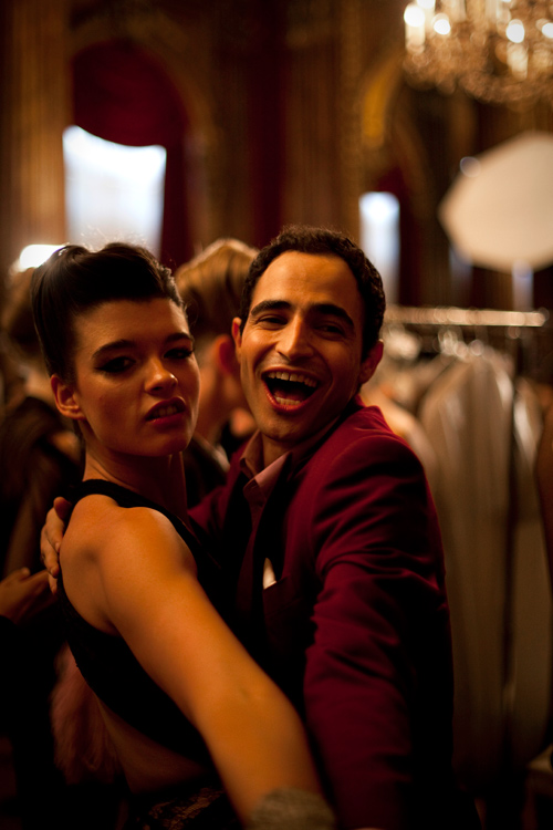 zac posen, backstage