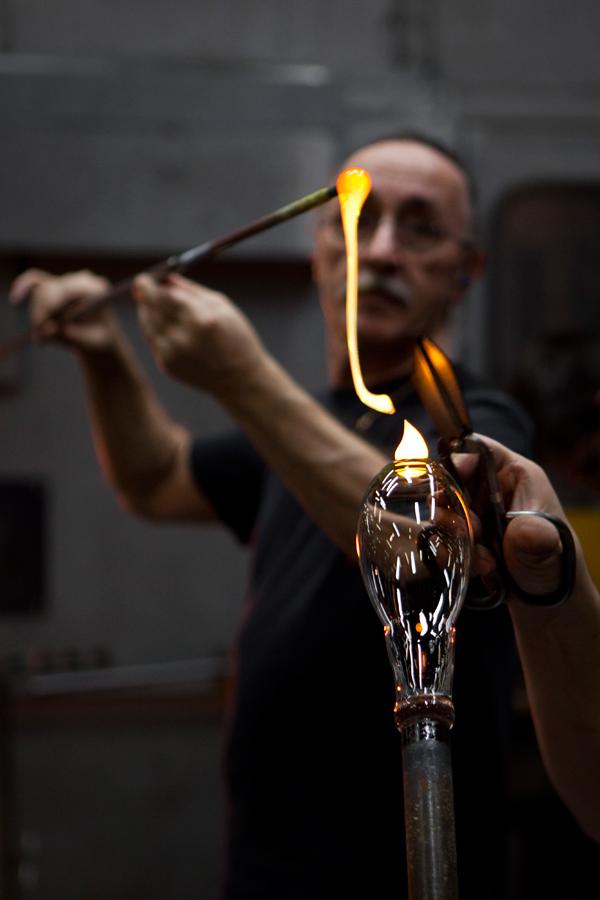 Baccarat, atelier à chaud, cristallerie