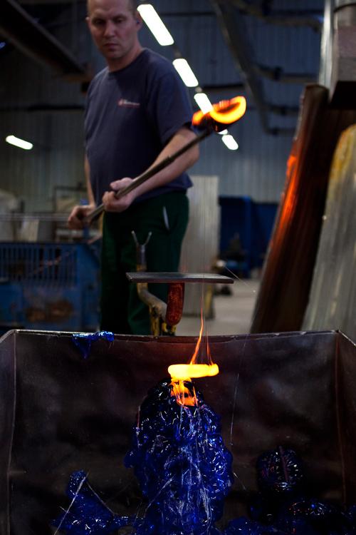 Baccarat, Atelier à chaud, cristallerie, joaillerie