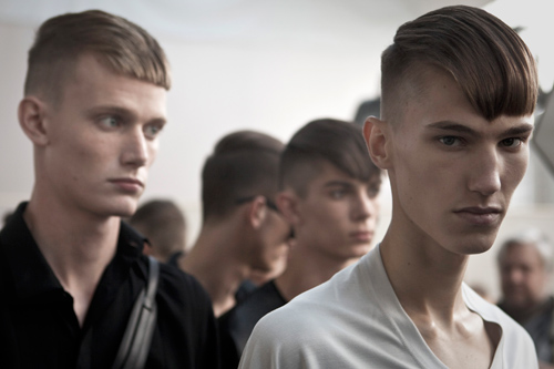 Backstage Lanvin, Men 2013, James Bort
