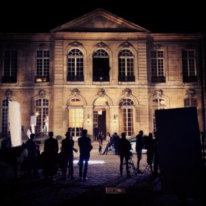 Tournage au musée Rodin