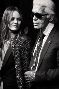 Karl Lagerfeld & Vanessa Paradis