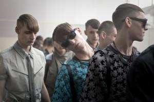 Backstage Lanvin, Men 2013, James Bort