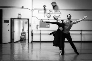 Dorothee Gilbert & Marcelo Gomez rehearsing Romeo & Juliet